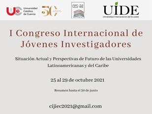 I CONGRESO INTERNACIONAL DE JÓVENES INVESTIGADORES, octubre 2021