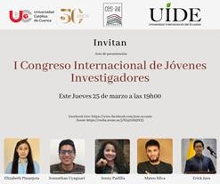 Se anuncia I Congreso Internacional de Jóvenes Investigadores, 2021