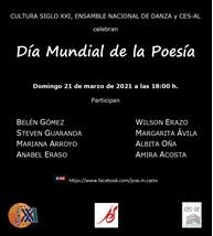 Recital poético: DÍA MUNDIAL DE LA POESÍA